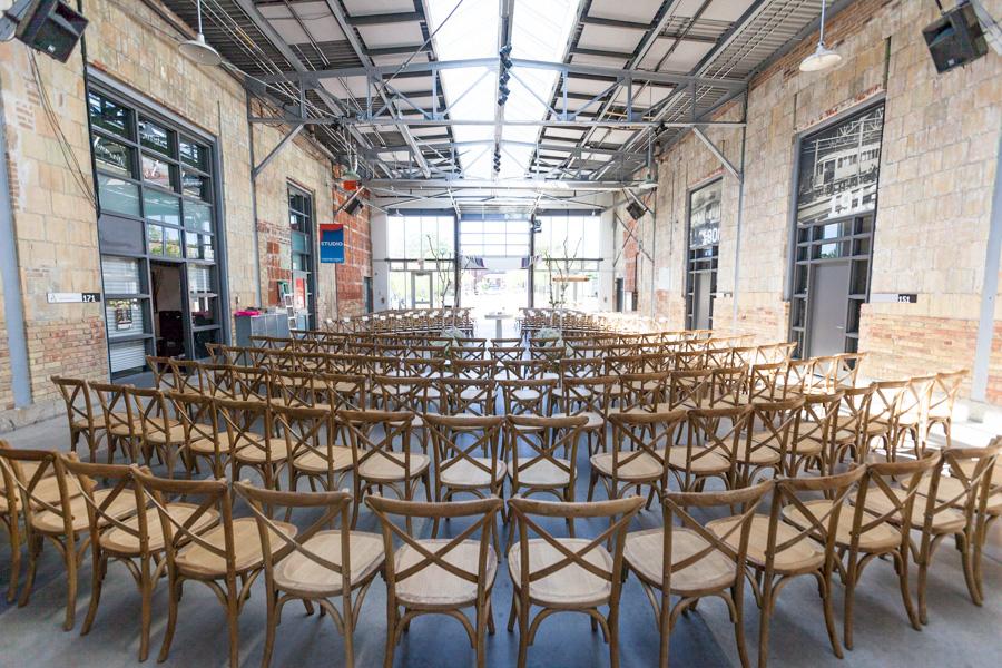 Wedding Set up - Artscape Wychwood Barns
